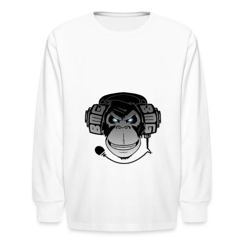 Gaming monkey tshirt - Kids' Long Sleeve T-Shirt
