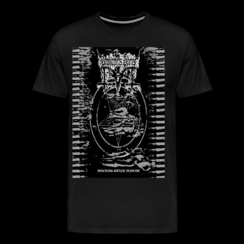 Baphomets Horns - Merciless Satanic Genocide - Men's Premium T-Shirt
