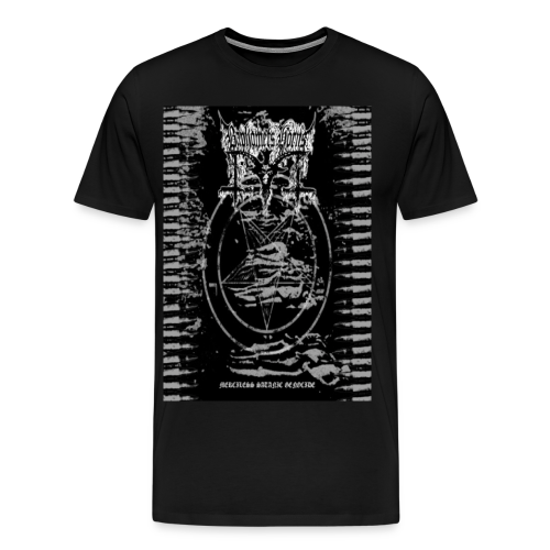 Baphomets Horns - Merciless Satanic Genocide - Men's Premium T-Shirt