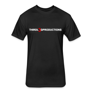 TLP BASIC BLACK TEE - Fitted Cotton/Poly T-Shirt by Next Level