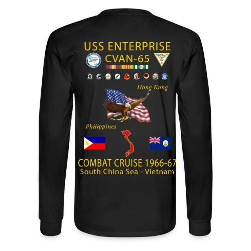 USS ENTERPRISE CVAN-65 COMBAT CRUISE 1966-67 CRUISE SHIRT - LONG SLEEVE - Men's Long Sleeve T-Shirt