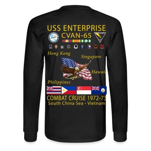 USS ENTERPRISE CVAN-65 COMBAT CRUISE 1972-73 CRUISE SHIRT - LONG SLEEVE - Men's Long Sleeve T-Shirt