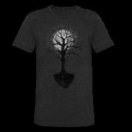 T-Shirts ~ Unisex Tri-Blend T-Shirt ~ Moon Tree Night