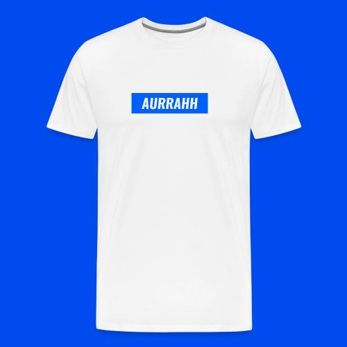 Aurrahh Classic Box Logo Tee (Supreme Inspired) - Men's Premium T-Shirt