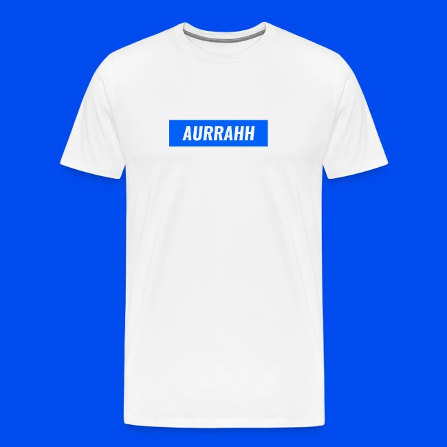 691fc2ed02a8 Men's Premium T-Shirt. (2841). Aurrahh Classic Box Logo Tee (Supreme  Inspired)
