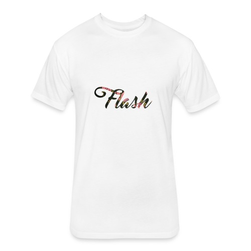 Flash Floral Tee - Fitted Cotton/Poly T-Shirt by Next Level