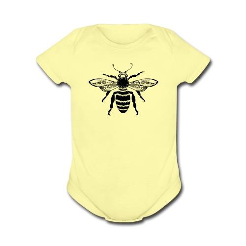 Tribal Queen Bee Short Sleeve Baby Bodysuit from South Seas Tees - Organic Short Sleeve Baby Bodysuit