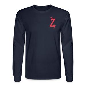 Zilum Red Logo Sleeve - Men's Long Sleeve T-Shirt