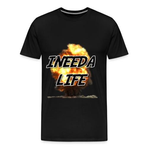 Premium INEEDALIFE's Badass Explosions Shirt (MAN) - Men's Premium T-Shirt