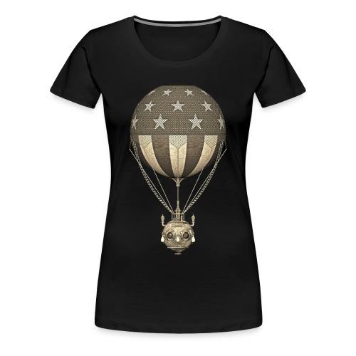 Steampunk US Hot Air Balloon in Sepia