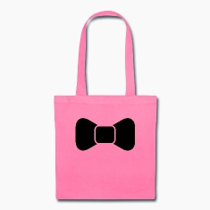 Black bow tie isolated Bags & backpacks