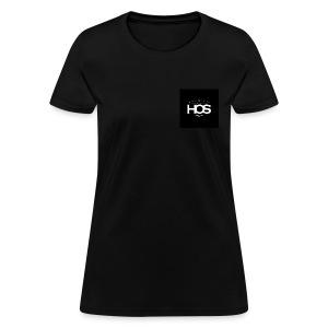 Womens Black T-Shirt  - Women's T-Shirt
