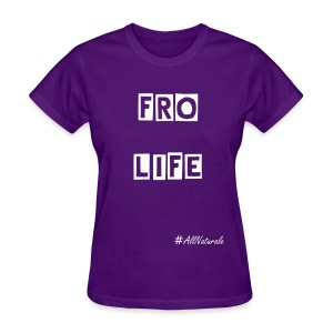 Women's Fro Life T-Shirt (Purple) - Women's T-Shirt