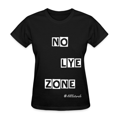 Women's No Lye Zone T-Shirt (Black) - Women's T-Shirt