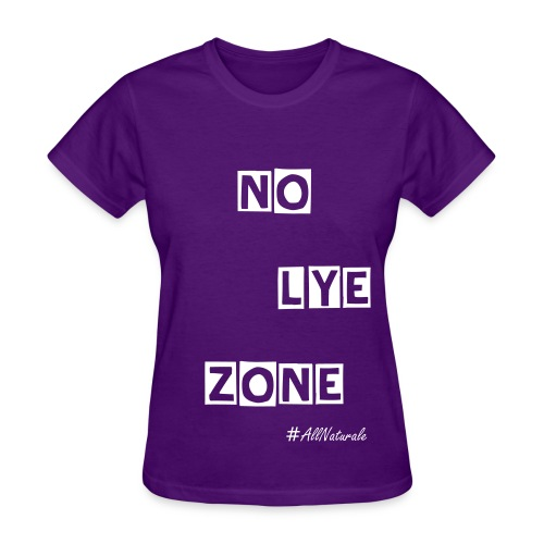 Women's No Lye Zone T-Shirt (Purple) - Women's T-Shirt