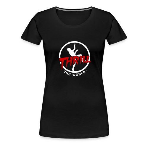 Women's white on black - Women's Premium T-Shirt