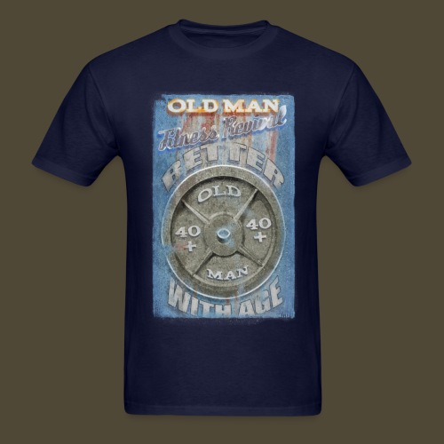 Old Man Fitness Revival  - Men's T-Shirt