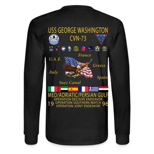 USS GEORGE WASHINGTON 1996 CRUISE SHIRT - LONG SLEEVE