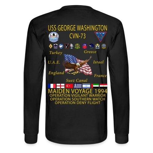 USS GEORGE WASHINGTON 1994 CRUISE SHIRT - LONG SLEVE - Men's Long Sleeve T-Shirt