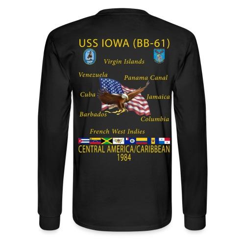 USS IOWA 1984 CRUISE SHIRT - LONG SLEEVE - Men's Long Sleeve T-Shirt
