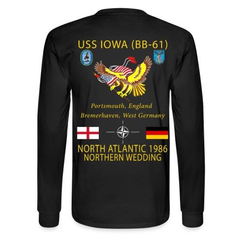 USS IOWA 1986 CRUISE - LONG SLEEVE - Men's Long Sleeve T-Shirt