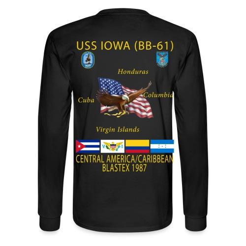 USS IOWA 1987 CRUISE SHIRT - LONG SLEEVE - Men's Long Sleeve T-Shirt