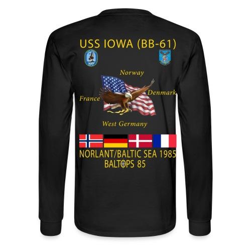 USS IOWA 1985 BALTOPS CRUISE - LONG SLEEVE - Men's Long Sleeve T-Shirt