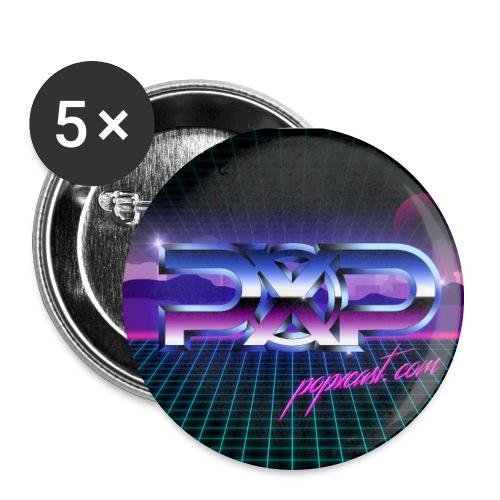PopXcast Official Retro 2 inch Buttons - Large Buttons