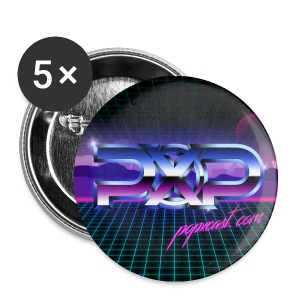 PopXcast Official Retro 1 inch Buttons - Small Buttons