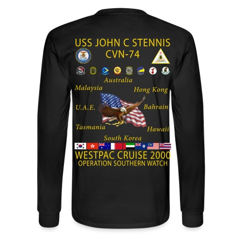USS JOHN C STENNIS 2000 CRUISE SHIRT - LONG SLEEVE - Men's Long Sleeve T-Shirt