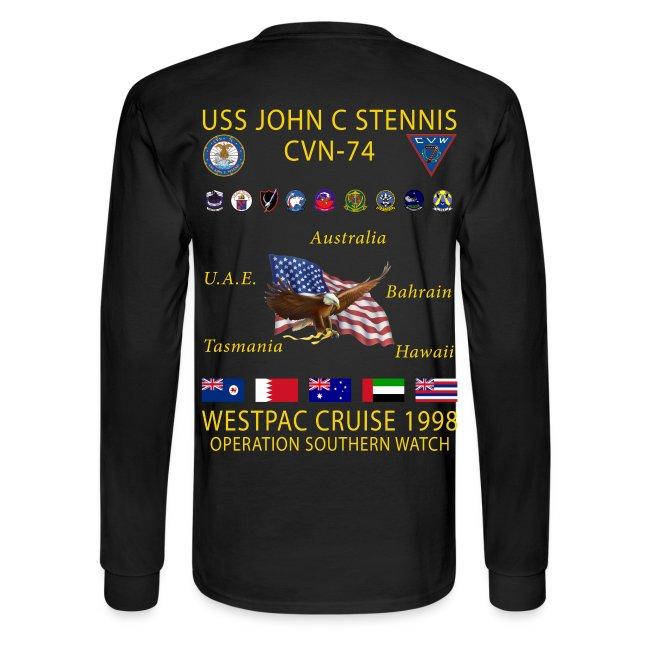 USS JOHN C STENNIS 1998 CRUISE SHIRT - LONG SLEEVE