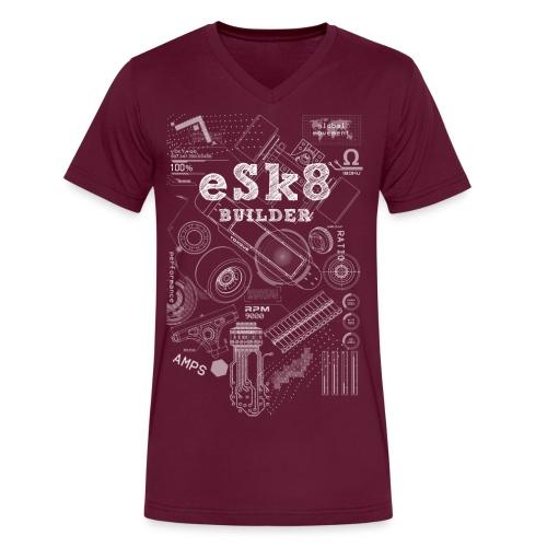 ESK8-BUILDER-SHORT-T-SHIRT - Men's V-Neck T-Shirt by Canvas