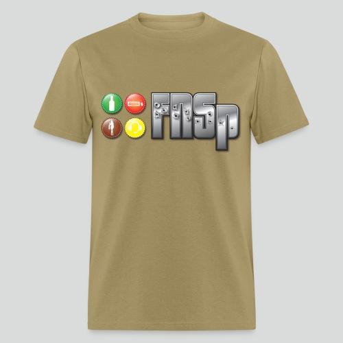 Mens T-Shirt with FNSp bottlecaps logo - Men's T-Shirt