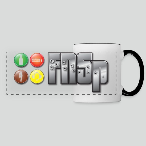 Contrast mug with panoramic FNSp bottlecaps logo - Panoramic Mug
