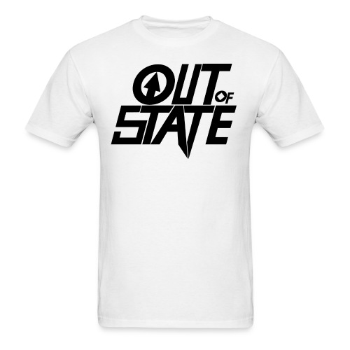 Out Of State Logo T-Shirt Mens White - Men's T-Shirt