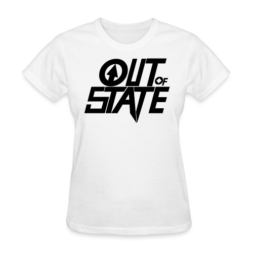 Out Of State Logo T-Shirt Womens White - Women's T-Shirt
