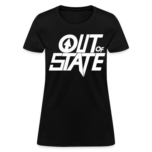Out Of State Logo T-Shirt Womens Black - Women's T-Shirt