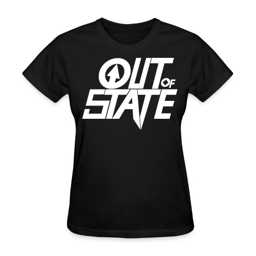 Out Of State Logo T-Shirt Womens Black - Women's T-Shirt