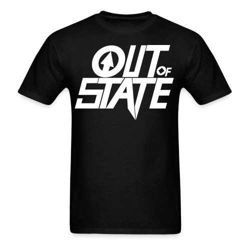 Out Of State Logo T-Shirt Mens Black - Men's T-Shirt