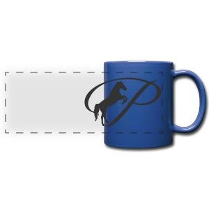 Mug with large grey logo - Full Color Panoramic Mug
