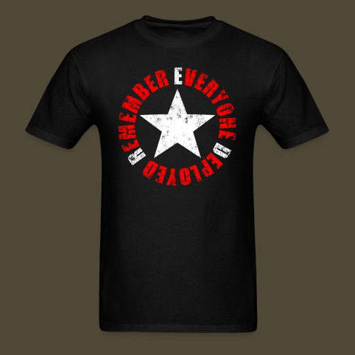Circled Star R.E.D. Front And Back - Men's T-Shirt