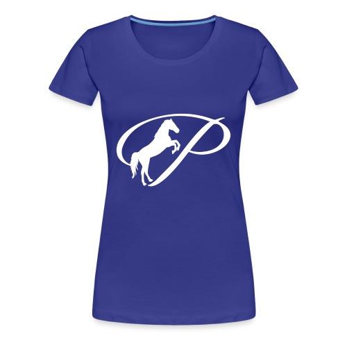 Womens Premium T-Shirt with large white logo - Women's Premium T-Shirt