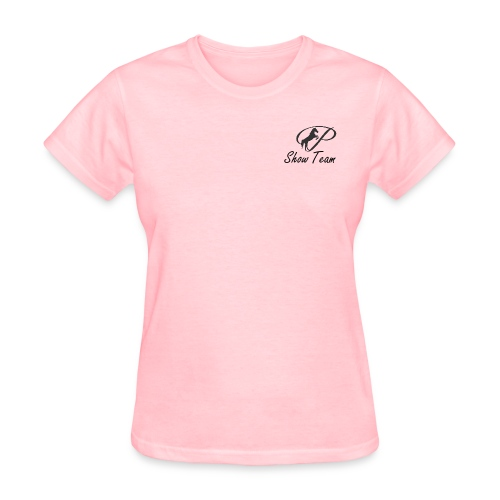 Show Team: Womens T-Shirt with small grey logo  - Women's T-Shirt