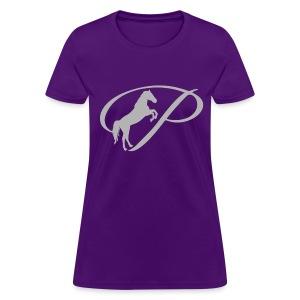Womens T-shirt with large light grey logo - Women's T-Shirt