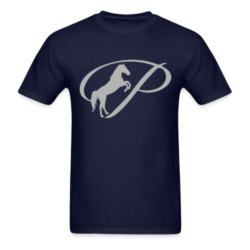 Mens T-Shirt with large light grey logo - Men's T-Shirt
