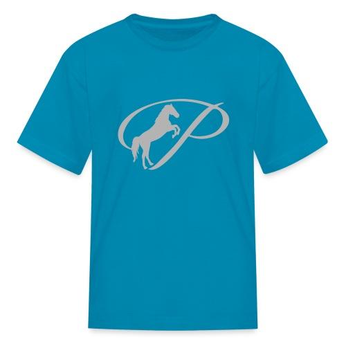 Kids T-Shirt with large light grey logo - Kids' T-Shirt
