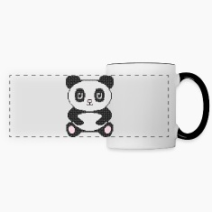 Funny cross-stitch panda Mugs & Drinkware