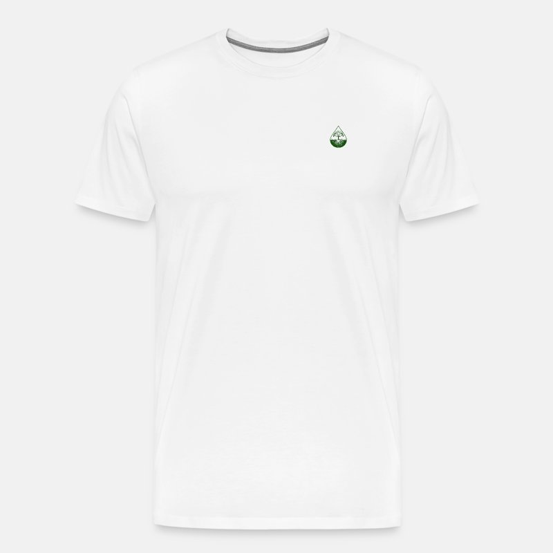 Elite design with dark green logo shirt - Men's Premium T-Shirt
