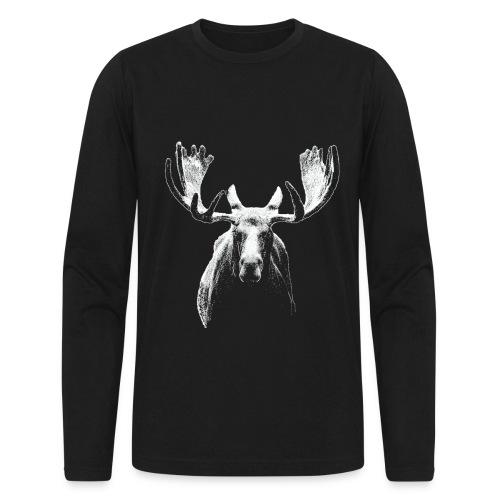 Bull moose w - Men's Long Sleeve T-Shirt by Next Level