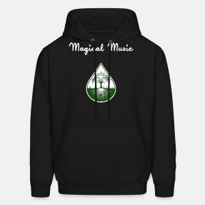 White text and green logo hoodie - Men's Hoodie